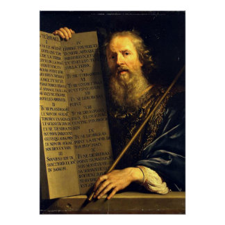 Moses, painting by Philippe de Champaigne Poster