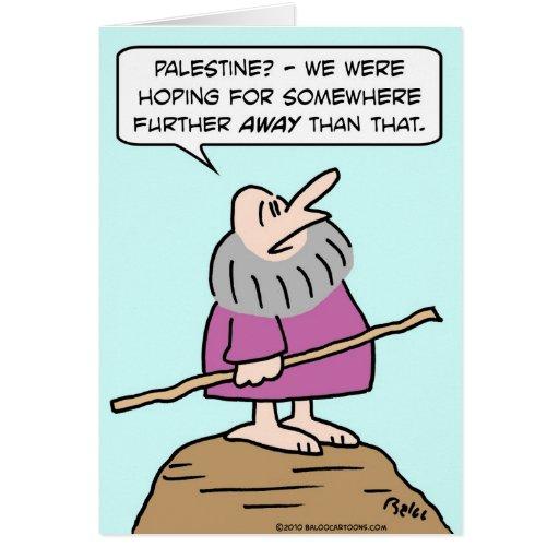 Moses Palestina que espera más lejos Felicitación