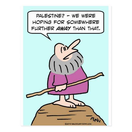 Moses Palestina que espera más lejos Tarjetas Postales