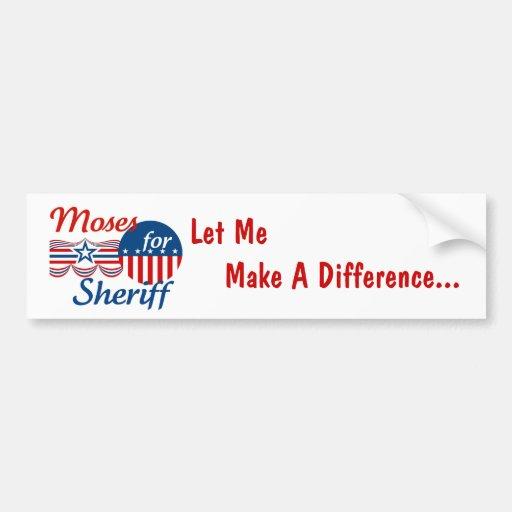 Moses para el sheriff etiqueta de parachoque