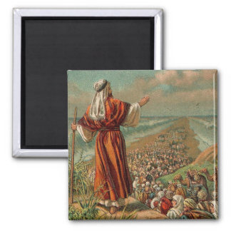 Moses parte el Mar Rojo Imán De Frigorífico
