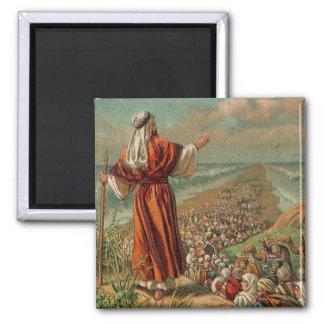 Moses parte el Mar Rojo Imán Cuadrado