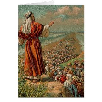 Moses parte el Mar Rojo Tarjeta De Felicitación