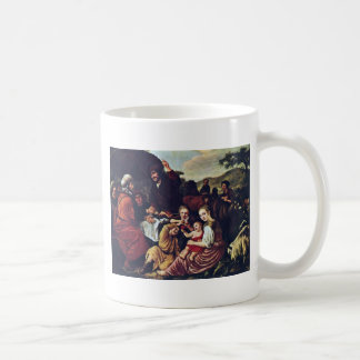 Moses' Parting Of Jethro By Victors Jan Coffee Mug