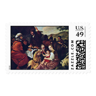 Moses' Parting Of Jethro By Victors Jan Postage Stamp