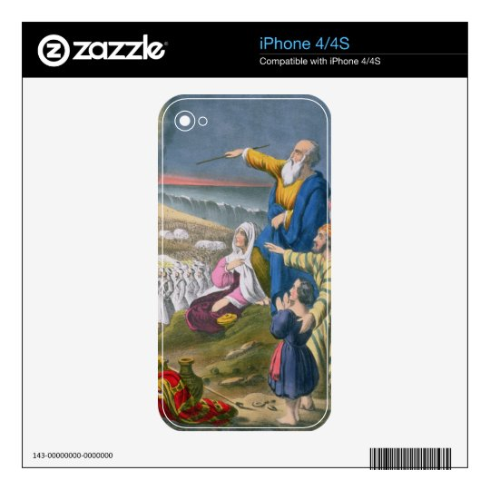 Moses Parting the Red Sea, from a bible printed by Decals For iPhone 4