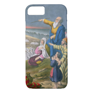 Moses Parting the Red Sea, from a bible printed by iPhone 7 Case