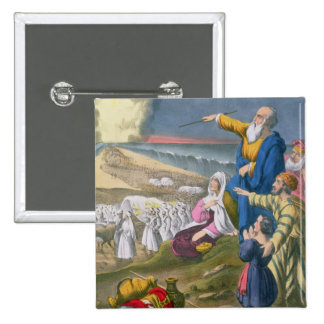 Moses Parting the Red Sea, from a bible printed by Pinback Button