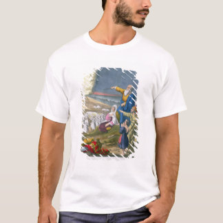 Moses Parting the Red Sea, from a bible printed by T-Shirt