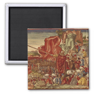 Moses parting the Red Sea Refrigerator Magnet