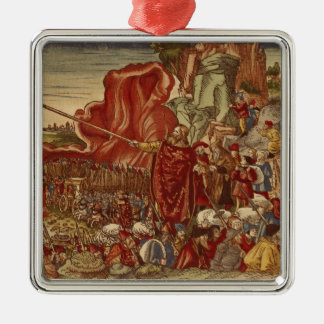 Moses parting the Red Sea Metal Ornament