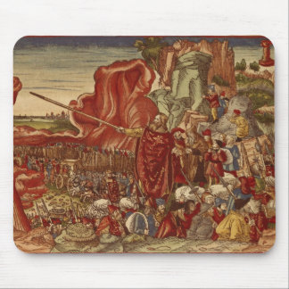 Moses parting the Red Sea Mouse Pad