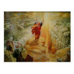 Moses parting the red sea post card.