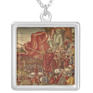 Moses parting the Red Sea Silver Plated Necklace