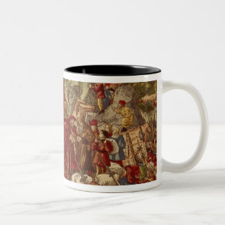 Moses parting the Red Sea Two-Tone Coffee Mug