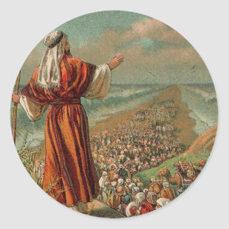 Moses Parts the Red Sea Classic Round Sticker