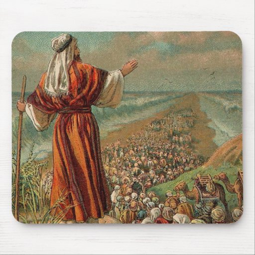Moses Parts the Red Sea Mousepads