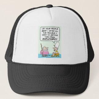 moses pharoah full employment bible trucker hat
