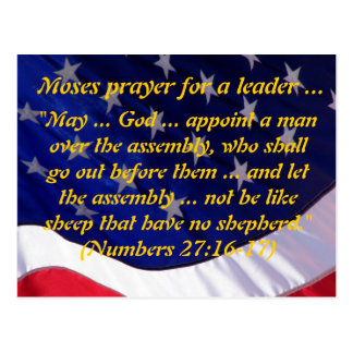 Moses Prayer Postcard