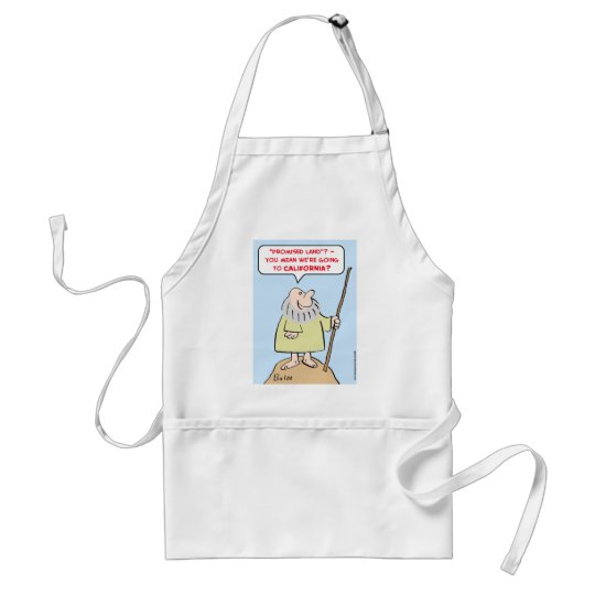 moses promised land california adult apron