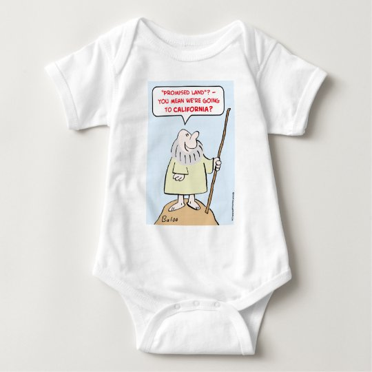moses promised land california baby bodysuit