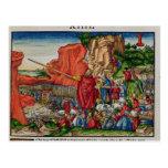 Moses que cruza el Mar Rojo Tarjeta Postal