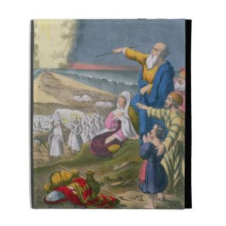 Moses que divide el Mar Rojo, de una biblia impres