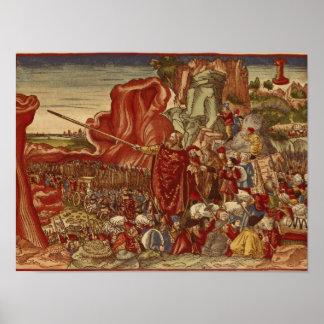 Moses que divide el Mar Rojo Posters
