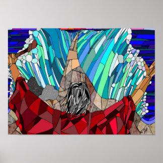 Moses que divide el Mar Rojo Póster