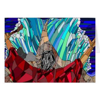 Moses que divide el Mar Rojo Tarjeta Pequeña