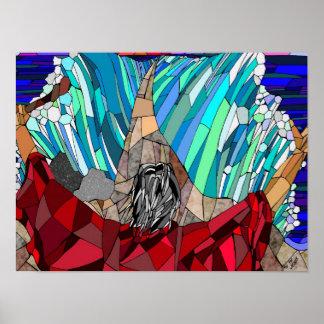 Moses que divide el Mar Rojo (X12 16) Póster