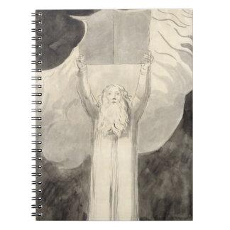 Moses que recibe la ley, c.1780 (cepillo y negro i libro de apuntes