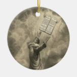 Moses que recibe la ley los diez mandamientos ornamento de reyes magos