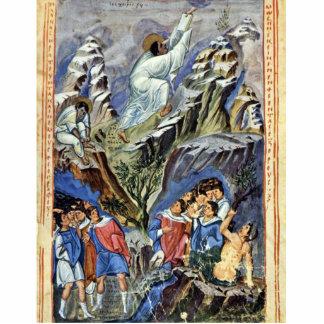 Moses que recibe las tabletas de la ley sobre el s esculturas fotograficas