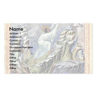 Moses que recibe las tabletas de la ley sobre el s tarjetas de visita