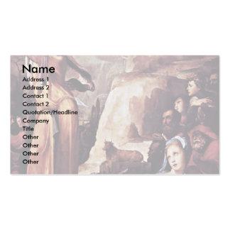 Moses que recibe las tabletas de la ley tarjetas de visita