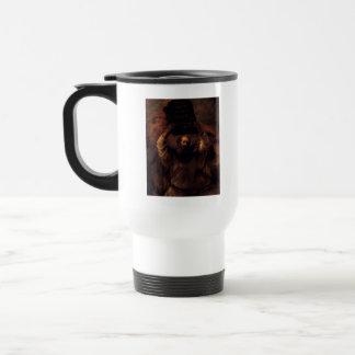 Moses que rompe las tabletas de la ley tazas de café