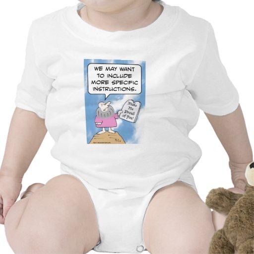 Moses quisiera que los mandamientos fueran más esp camiseta