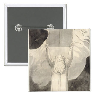 Moses Receiving the Law, c.1780 (brush and black i 2 Inch Square Button