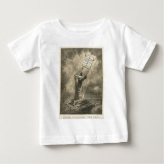 Moses Receiving the Law The Ten Commandments Baby T-Shirt