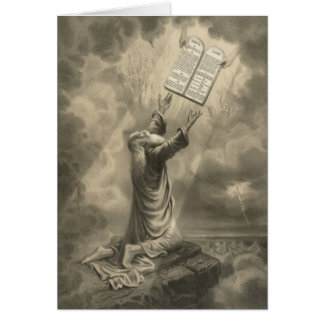 Moses Receiving the Law The Ten Commandments Card