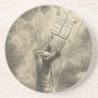 Moses Receiving the Law The Ten Commandments Coaster
