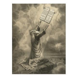 Moses Receiving the Law The Ten Commandments Postcard