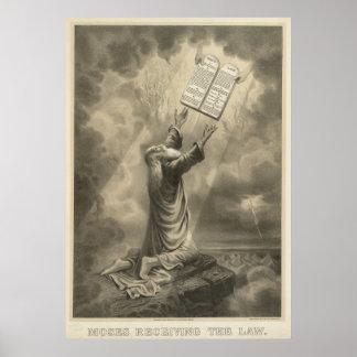 Moses Receiving the Law The Ten Commandments Poster