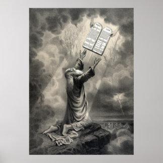 """""""Moses recibe impresión de la ley"""" Póster"""