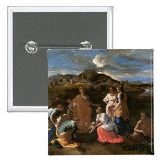 Moses rescató del agua, 1647 pin cuadrado