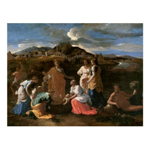 Moses rescató del agua, 1647 postal