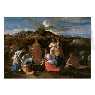 Moses rescató del agua, 1647 tarjeta de felicitación