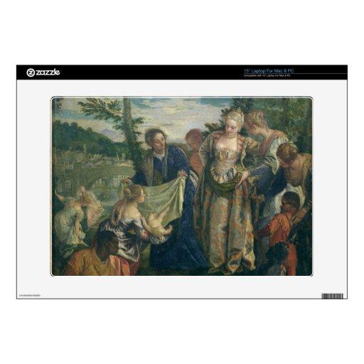 Moses rescató del Nilo, 1580 (el aceite en lona) 38,1cm Portátil Calcomanía