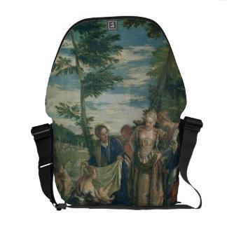 Moses rescató del Nilo, 1580 (el aceite en lona) Bolsas Messenger
